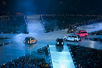 Cabs carrying the Spice Girls at the 2012 Summer Olympics closing ceremony