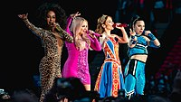 The Spice Girls (without Beckham) perform at Wembley Stadium, London, June 2019. Their 3 nights at the venue were the highest-grossing engagement of the year, winning the 2019 Billboard Live Music Award for Top Boxscore.