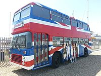 The Spice Girls' bus used in the film Spice World (1997)