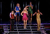 """The Spice Girls performing """"Wannabe"""" as the closing number of their Return of the Spice Girls Tour, at the Air Canada Centre, in Toronto"""
