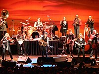 Springsteen and The Sessions Band performing on their tour at the Fila Forum, Milan, Italy on May 12, 2006.