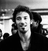 Springsteen at Félix Houphouët-Boigny International Airport in Ivory Coast during Amnesty International's 1988 Human Rights Now! Tour