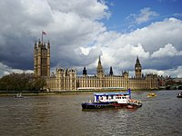 The Palace of Westminster, seat of the Parliament of the United Kingdom