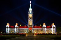 The federal bicameral Parliament of Canada, which contains a House of Commons and a Senate