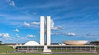 The National Congress of Brazil, seat of the Chamber of Deputies and the Federal Senate