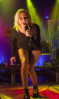 Goulding performing at Manchester Academy in December 2012 during The Halcyon Days Tour