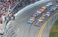 Gordon leads the field to the green flag at the Daytona 500