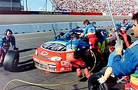 The Rainbow Warriors doing a pit stop in 1997