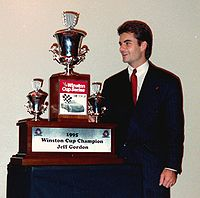 Gordon with his 1995 trophy
