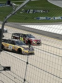 Gordon during a red flag at the Quaker State 400 at Kentucky Speedway