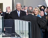 Joe Biden takes the oath of office as the 46th President of the United States