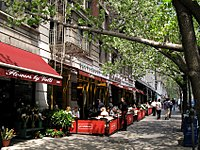 Sidewalk cafe on Broadway and 112th Street