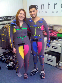 Motion capture performers from Buckinghamshire New University