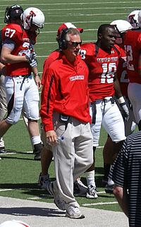 Tuberville during the 2011 Texas Tech Red Raiders Spring Game