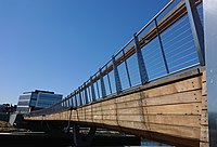 The Providence Pedestrian Bridge opened in August 2019