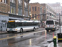 RIPTA route 99 bus in Providence, February 2010