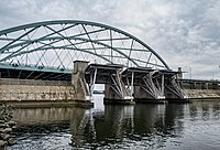 The Iway Bridge and Fox Point Hurricane Barrier