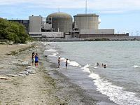 The Pickering Nuclear Generating Station is one of three nuclear power stations in Ontario.