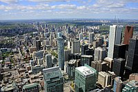 Toronto's Financial District serves as the centre for Canada's financial services.