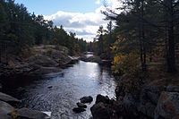 Typical landscape of the Canadian Shield at Queen Elizabeth II Wildlands Provincial Park, located in Central Ontario