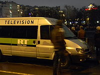 RT team covering protests in Bolotnaya Square in Moscow on 10 December 2011