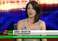 """""""Breaking the Set"""" (2012–2015) presenter and correspondent Abby Martin"""