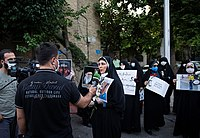 RT reporter covering the George Floyd protests in Iran in June 2020