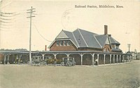 A 1911 postcard of the station