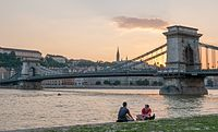 The Danube, Europe's second-longest river, in Budapest, Hungary.
