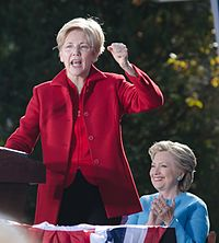Warren stumps for Hillary Clinton in Manchester, New Hampshire, October 2016