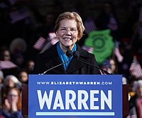 Warren while formally declaring her candidacy in Lawrence, Massachusetts on February 9, 2019