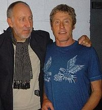 Daltrey (right) with Pete Townshend, 2004