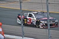 Dillon racing at New Hampshire Motor Speedway in 2015