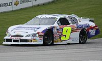 Chase Elliott's No. 9 Aaron's Chevrolet at Road America in 2013