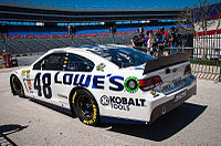 Jimmie Johnson's No. 48 Lowe's Chevrolet at Texas in 2013