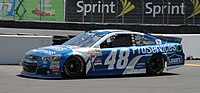 Jimmie Johnson's No. 48 Lowe's Chevrolet at Sonoma in 2015