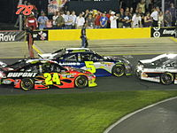 No. 24 car of Jeff Gordon and No.5 car Jimmie Johnson used during the 2011 All-Star Race