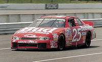 1997 No. 25 Budweiser-sponsored Chevrolet, driven by Ricky Craven.