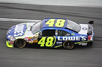 Jimmie Johnson's No. 48 Lowe's Chevrolet in 2008