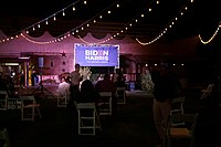October 25, 2020: Campaign rally for Joe Biden at Corona Ranch and Rodeo Grounds in Phoenix, featuring Cher.