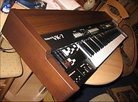 Roland VK-7 (1997) Even though the VK-7 recreates the Hammond sound using electronic circuits, the instrument gives a nod to the traditional heritage of the Hammond by using a wooden case.
