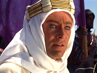 Peter O'Toole as T. E. Lawrence in David Lean's 1962 epic Lawrence of Arabia