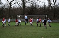 Sunday league football (a form of amateur football). Amateur matches throughout the UK often take place in public parks.
