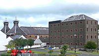 Old Bushmills Distillery, County Antrim, Northern Ireland. Founded in 1608, it is the oldest licensed whiskey distillery in the world.