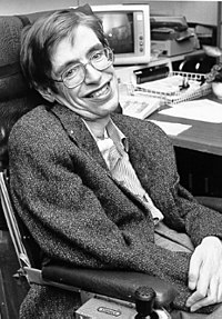 Physicist Stephen Hawking set forth a theory of cosmology explained by a union of the general theory of relativity and quantum mechanics. His 1988 book A Brief History of Time appeared on The Sunday Times best-seller list for a record-breaking 237 weeks.