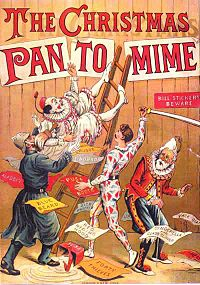 The Christmas Pantomime 1890. Pantomime plays a prominent role in British culture during the Christmas and New Year season.