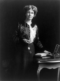 Emmeline Pankhurst. Named one of the 100 Most Important People of the 20th Century by Time, Pankhurst was a leading figure in the suffragette movement.