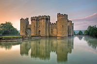 Bodiam Castle is a 14th-century moated castle in East Sussex. Today there are thousands of castles throughout the UK.