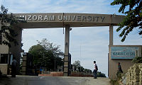 Mizoram Peace Accord was signed in June 1986. The Accord granted political freedoms by making Mizoram a full state of India, and included infrastructure provisions such as a High Court and establishment of Mizoram University (shown).