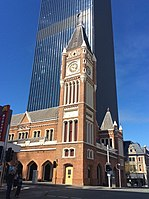 Perth Town Hall, like many colonial buildings in Perth, was built using convict labour.